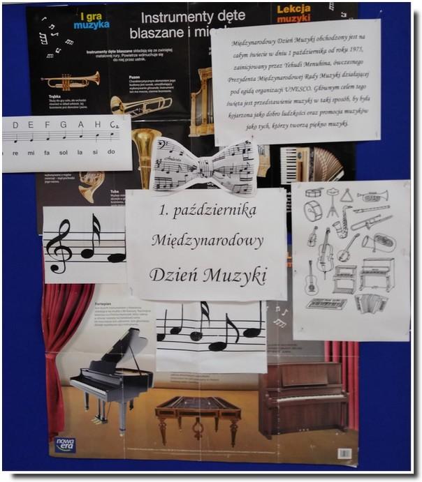 Gazetka szkolna z okazji Międzynarodowego Dnia Muzyki