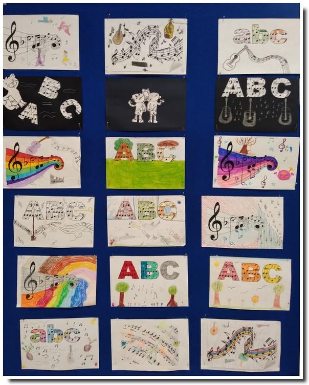 Wystawa prac plastycznych uczniów z okazji Międzynarodowego Dnia Muzyki