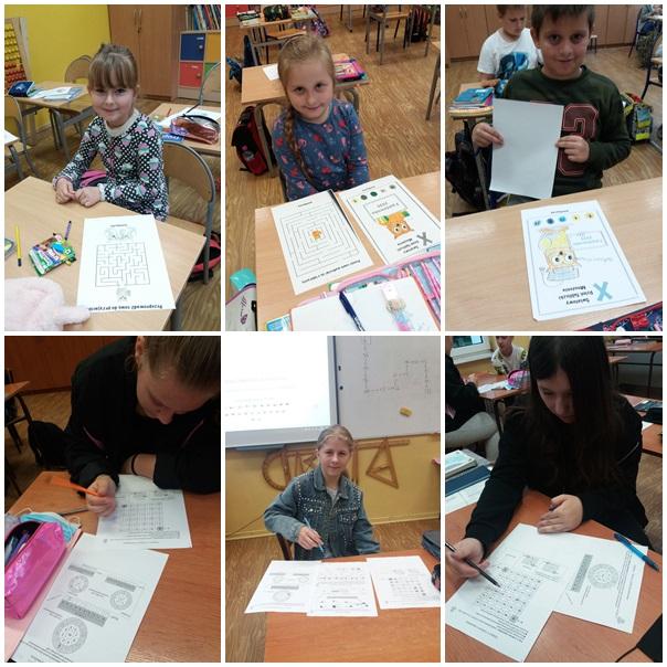 Światowy Dzień Tabliczki Mnożenia. Uczniowie z klas I-III oraz uczniowie klasy VIII rozwiązują rebusy i łamigłówki matematyczne związane z tabliczką mnożenia