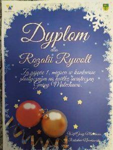 Dyplom dla Rozalii Rywolt